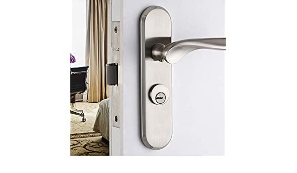 ALILEO Cerraduras de Puerta Interior Minimalistas Modernas Cerradura de la Puerta del Dormitorio Bremen: Amazon.es: Hogar