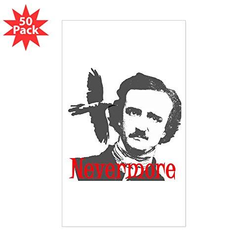 (CafePress - Nevermore Edgar Allan Poe Sticker (Rectangle 50 Pk - Sticker (Rectangle 50)
