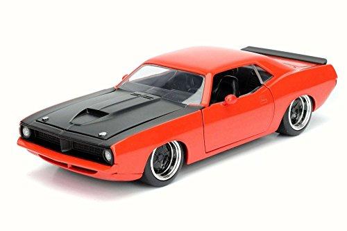 Plymouth Barracuda Trunk (Plymouth 1973 Barracuda, Metallic Gray - Jada 98244 - 1/24 Scale Diecast Model Toy Car but NO Box)