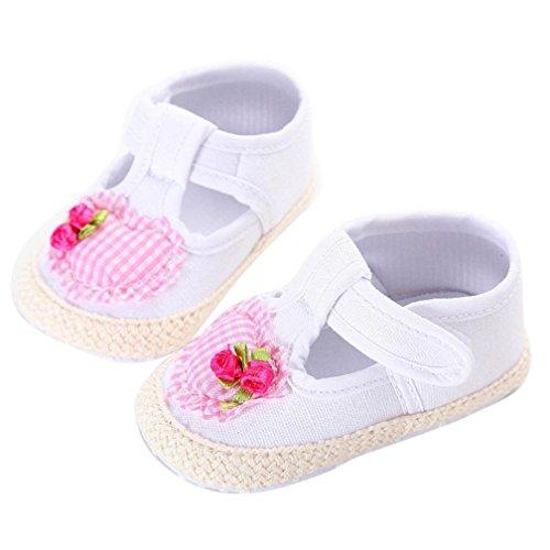 Janly Kleinkind-Mädchen-weiche alleinige Krippe beschuht Turnschuh-Baby-Schuhe Weiß