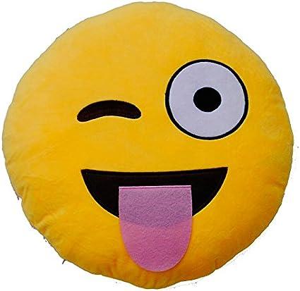 Emoticonworld Coussin Smiley Qui Tire La Langue 25 Cm Amazon Fr Cuisine Maison