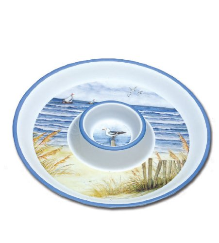 """Keller-Charles By The Sea 14"""" Chip and Dip Tray"""