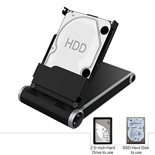 Hard Drive Enclosure, SOWTECH 2 in 1 Portable 2.5