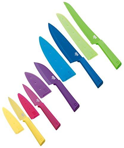"Kuhn Rikon Everyday""Colori+ Set"" 5 Piece Knives Set, Multicolor"