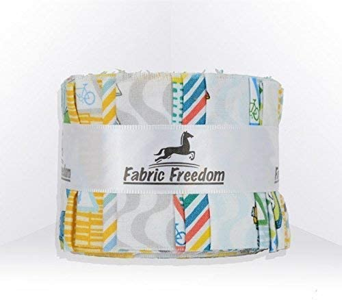 100/% Craft Cotton Vintage Luggage Travel Fabric Freedom Globetrotter