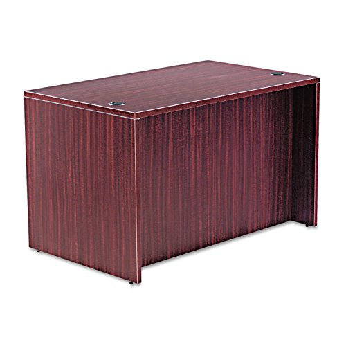 encia Series 48 by 30 by 29-1/2-Inch Desk Shell, Rectangular Top, Mahogany (Series Rectangular Worksurfaces)
