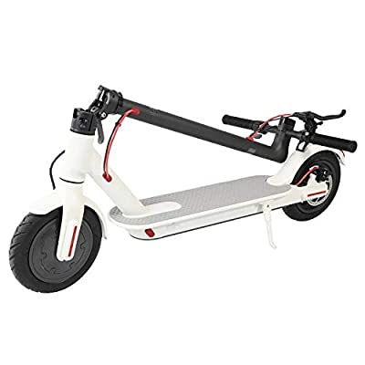 PH Electric Scooter 280W Foldable Adjustable with LED ABS APP and Bluetooth 3h Lightening Charge Max Capacity 265lb Speed 25km/h Mileage 14.5 Miles Folded Size L42.5'' W17'' H44.88'' 12.5kg (White) : Sports & Outdoors