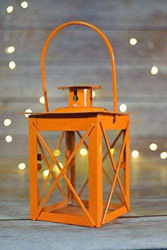 (Paperlanternstore.com 4.5 Inch Orange Square Hurricane Candle)