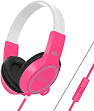 MEE audio KidJamz 3 Child Safe Headphones for Kids with Volume-Limiting Technology and Built-in Microphone and