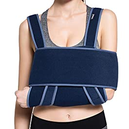 VELPEAU Arm Sling Shoulder Immobilizer – Can Be Used During Sleep – Rotator Cuff Support Brace – Adjustable Medical…