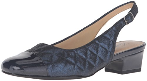 Trotters Dea - Zapatos destalonados mujer Navy Quilted