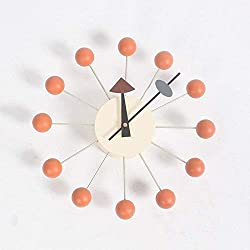 TRN Table, Clock, Clock, Gift, Clock, Household, Clock, Living Room, Simple Clock, Wall Clock, Living Room, European Quartz Clock, Clock, Wall Clock, Double-Sided Clock, Clock,Orange