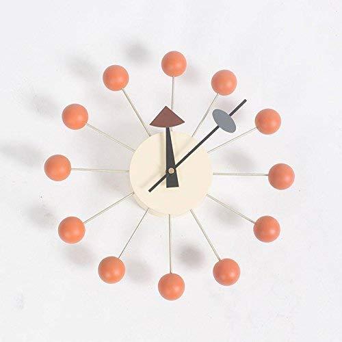 (GZMEI Bubble Nelson Wall Clock Multi Color/Wooden Balls & Aluminum Quartz Holder)