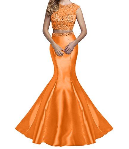 mit Marie Langes Steine Rosa Meerjungfrau Abendkleider Promkleider La Orange Abschlussballkleider Braut pqdA8