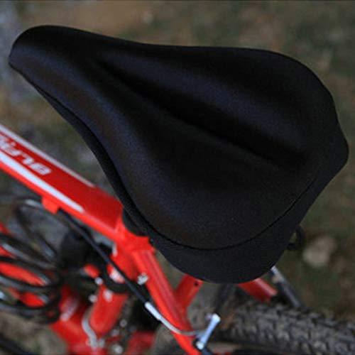Deasengmint Rilievo di Cuscino della Copertura di sede della Sella della Bici della Bici della Bicicletta Molle Spessa del Gel del Silicone di Alta qualit/à Trasporto-Nero