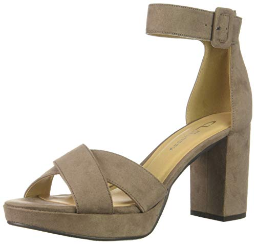 CL by Chinese Laundry Women's Gala Heeled Sandal, DEEP Taupe Suede, 7.5 M US