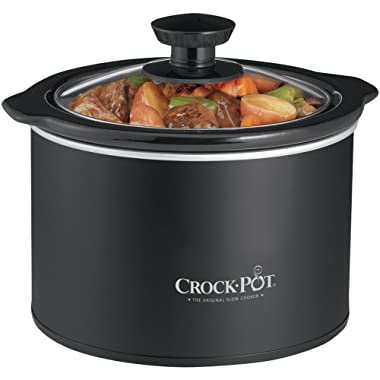 Crock-Pot SCR151 1-1/2-Quart Round Manual Slow Cooker, Black