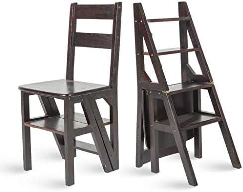 Escalera multifunción doméstica Taburete de Madera Maciza IKEA Silla Plegable de Doble Uso Escalera de Cuatro Pasos Escalera Ascendente 38 × 39 × 60 cm (Color : Black): Amazon.es: Hogar