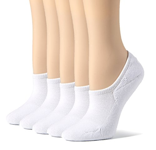 11716f6ef70 Leotruny Women s Cushion Sweat-absorbent Breathable Soft Athletic No Show  Socks (White)