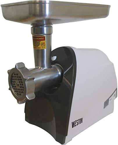 Weston 575 Watt Electric Heavy Duty Grinder, Silver (Best Rabbit Feed For Meat Rabbits)