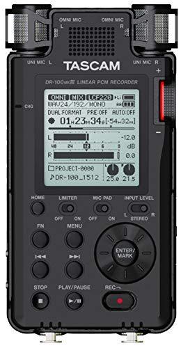 Tascam DR-100MKIII 192kHz/24-Bit Stereo Portable Audio Recorder