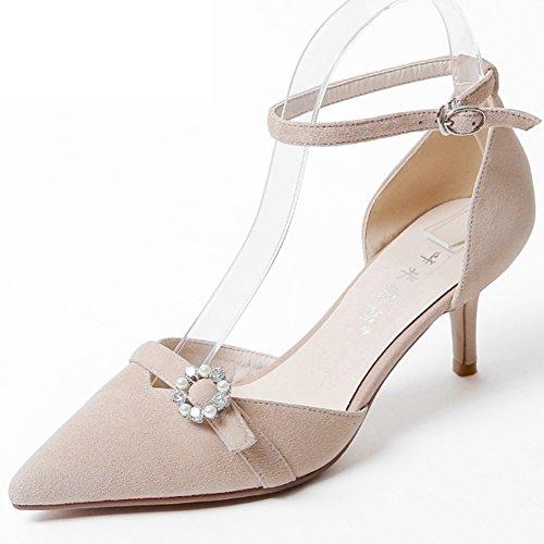 Sandalias Modernas De La Manera/Una Hebilla De La Palabra Con Los Zapatos/Zapatos De Mujer De Poca Ayuda A