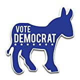 VictoryStore Yard Sign Outdoor Lawn Decorations: Vote Democrat Donkey Shaped Yard Sign, 22 inch x 22 inch with Stakes