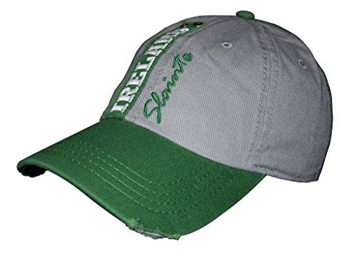 Hat Baseball Irish (Croker Grey & Green Slainte Ireland Cap, One Size Fits All Mens Baseball Hat)
