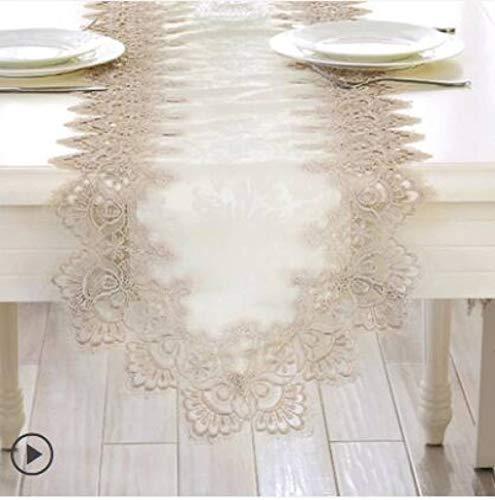 ROGEWIN Table Runner Europe Embroidered Lace Flag Simple Tv Cabinet Shoe Cabinet Decoration Rectangular Cover Cloth