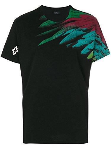 Marcelo Burlon T-Shirt Uomo CMAA018F170012371088 Cotone Nero