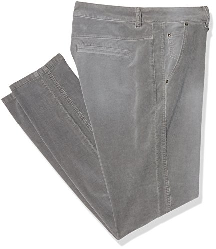 Tom Tailor Washed Corduroy Slim Chino, Pantalones para Mujer Gris (Smoked Pearl Grey 2103)