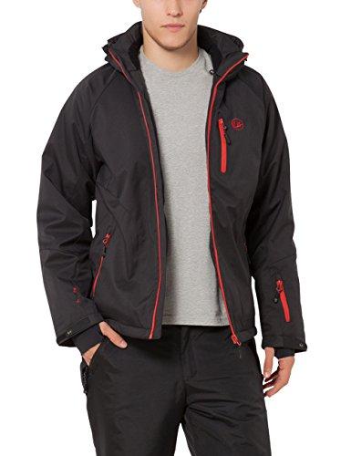 Ultrasport Herren Softshelljacke Everest, Schwarz/Rot, M