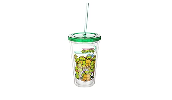 Teenage Mutant Ninja tortugas Cup con paja: Amazon.es: Hogar