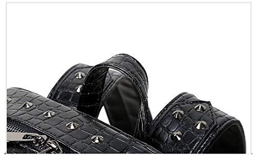 Mouth dos les Open adapté en cuir mode cool adolescentes de portable tête sac 3D Black filles PU sac ordinateur de loup Sac bandoulière Rfxd1wPf
