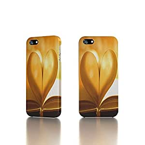 Apple iPhone 4 / 4S Case - The Best 3D Full Wrap iPhone Case - book pages heart light photo