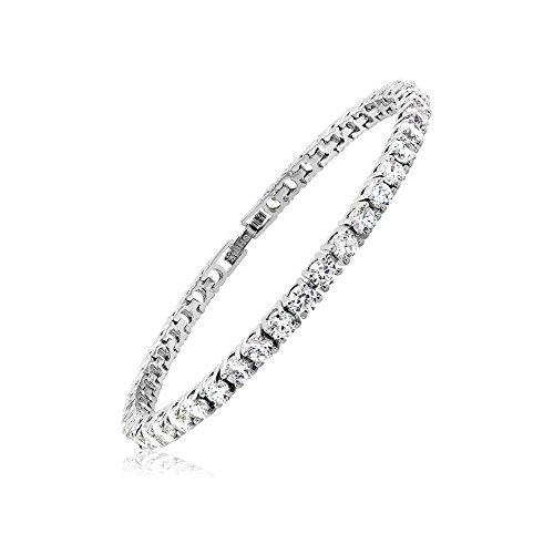 Cubic Zirconia Classic Tennis Bracelet-8 inch (Jelly Bracelts)