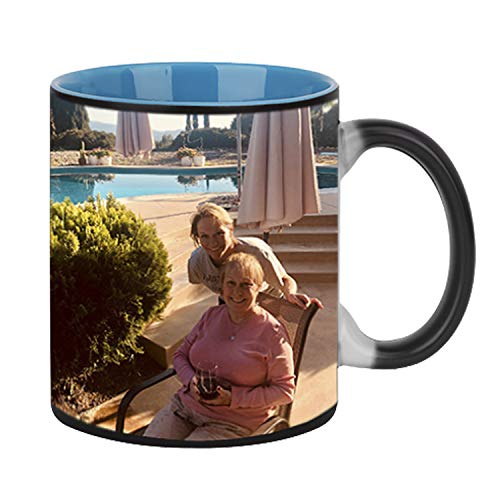 - Magic Photo Ceramic Coffee Mugs, Personalized Custom DIY Print Image Photo Picture Cup Hot Heat Sensitive Color Changing Coffee Mug Milk Water Tea Cup Thanksgiving Christmas Birthday Keepsake Gift