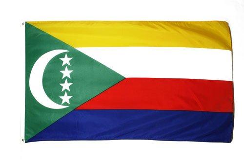 COMOROS FLAG 3' x 5' - COMORAN FLAGS 90 x 150 cm - BANNER 3x5 ft - AZ FLAG