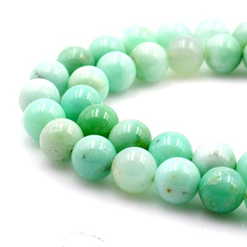 BRCbeads Natural Green Chrysoprase Agate Gemstone Round Loose Beads 5mm Approxi 15.5 inch 78pcs 1 Strand per Bag for Jewelry Making ()