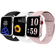 VATI Sport Band Compatible with Apple Watch Band 42mm 38mm, Soft Silicone Sport Strap Replacement...
