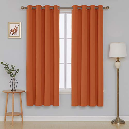Deconovo Blackout Curtain, 52x84 Inch, Orange (Burnt Blackout Curtains Orange)