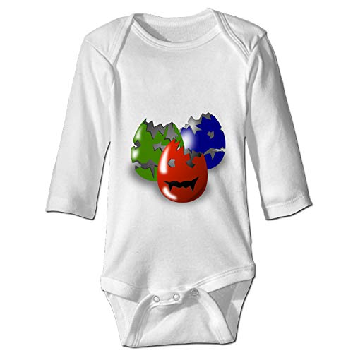 WilBstrn Baby Long Sleeve Bodysuit Eggs Easter Wicked Halloween Scary Infant Cotton Long-Sleeve Bodysuits for $<!--$14.94-->