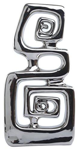 Crown Baccara Aztec 16 Figura Decorativa Acab. Metalico Cerámica, 42 cm, 1 Pieza