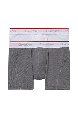 Calvin Klein Tech Active Boxer Brief (X-Large, White/Grey)