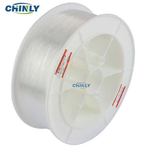 CHINLY 4921ft(1500m)/roll Diameter 0.04in(1.0mm) PMMA Plastic End Glow Optical Fiber Light Cable for LED Fiber Optic Star Ceiling Light lamp