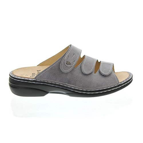 Finn Comfort Kos Pantolette, Monroe (pelle Liscia), Colore Pietra (grigio) 2554-503150 Grigio (pietra)