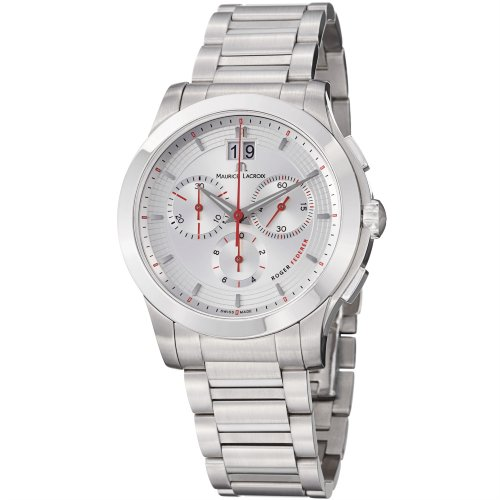 Maurice Lacroix Men's MI1087-SS002130 Miros Silver Chronograph Dial Watch