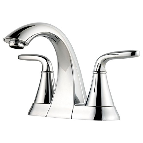 Pfister LF048PDCC Pasadena 2 Handle 4 Inch Centerset Bathroom Faucet in Polished Chrome ()