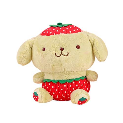 Cute Pom Pom Purin Plush Toy Keyring Pendant Stuffed Dolls Kawaii Plush Pillow Anime Figure Decor Soft Keychain Present