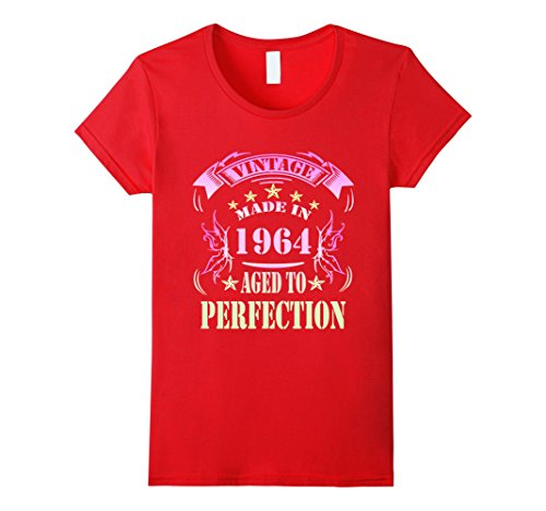 Womens 53 Birthday Made in 1964 Gift ideas Funny Men T shirt Large Red